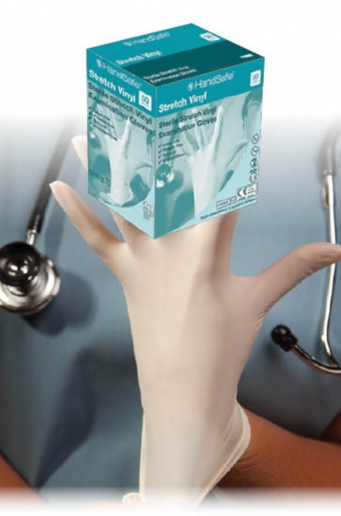 GS124 Sterile Stretch Vinyl Powder Free Gloves
