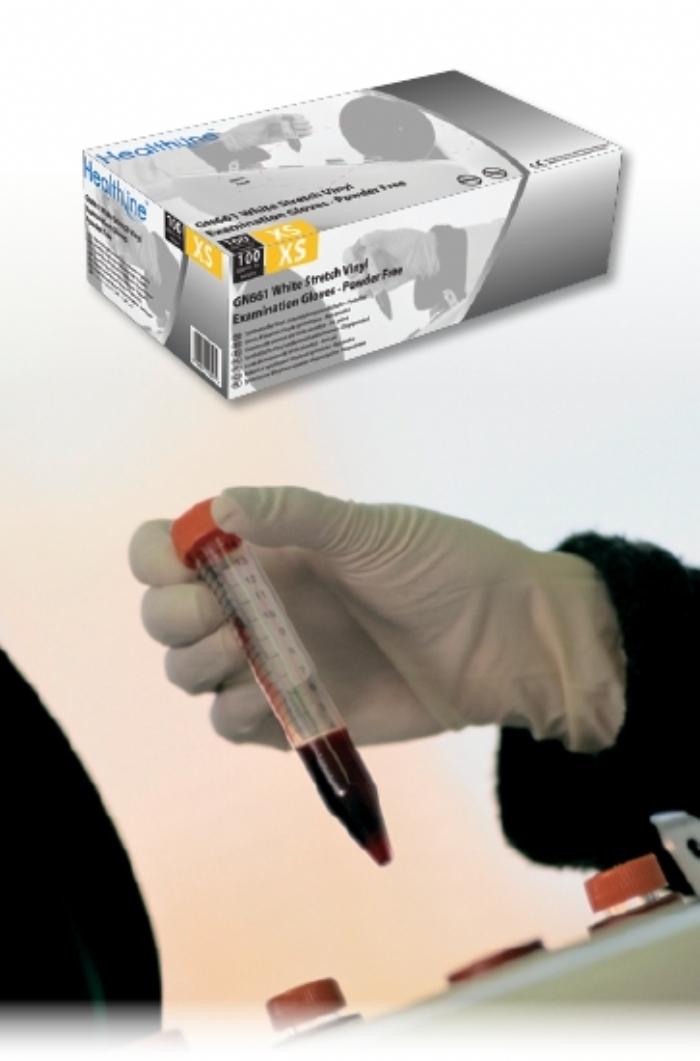 GN661 Powder Free White Stretch Vinyl Gloves