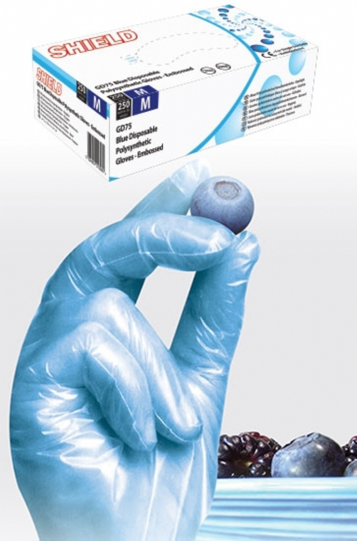 GD75 Blue Powder Free Polysynthetic Gloves
