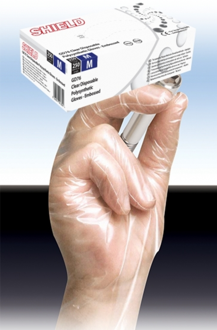 GD76 Clear Powder Free Polysynthetic Gloves