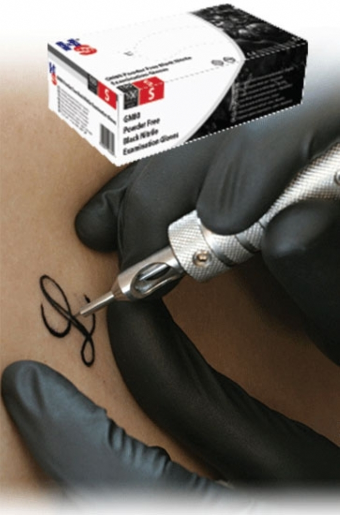 GN80 Hand Safe Black Powder Free Nitrile Gloves