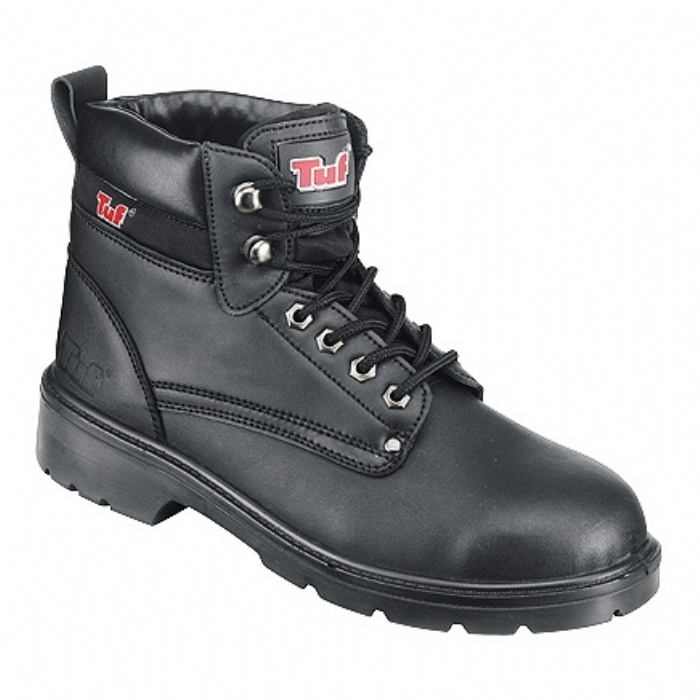 Tuf Waxy Leather Derby safety boot with midsole