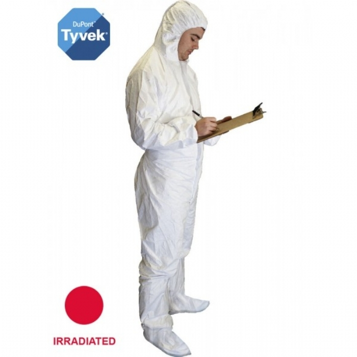 Style No. 6017 - Sterile Tyvek Coverall w/feet - Type 5/6