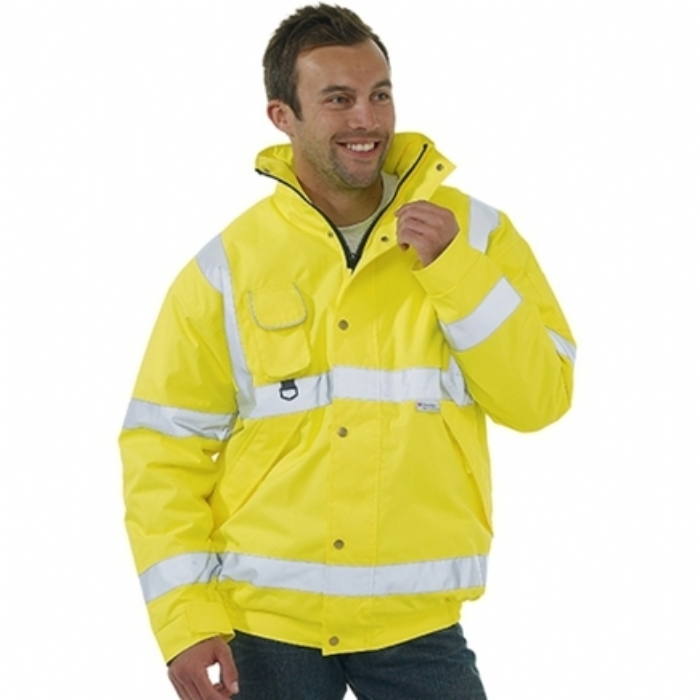 Hi-Vis Saturn Yellow Bomber Jacket