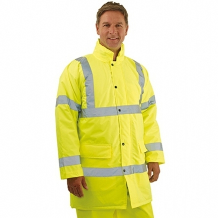 Hi-Vis Saturn Yellow Safety Jacket