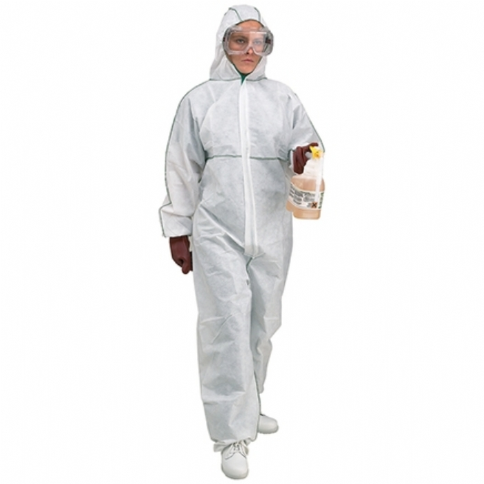 Disposable Type 5/6 White Hooded Coverall