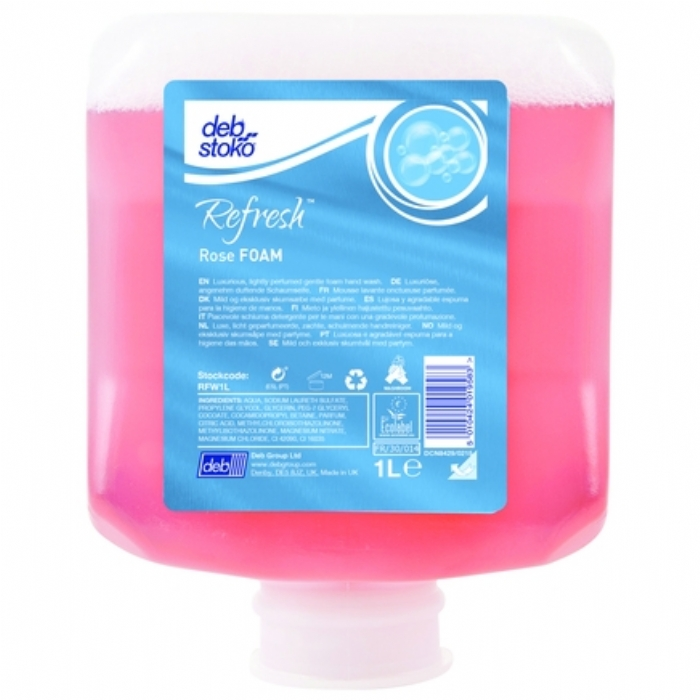 Deb Stoko Refresh Relax Foam Wash 1L