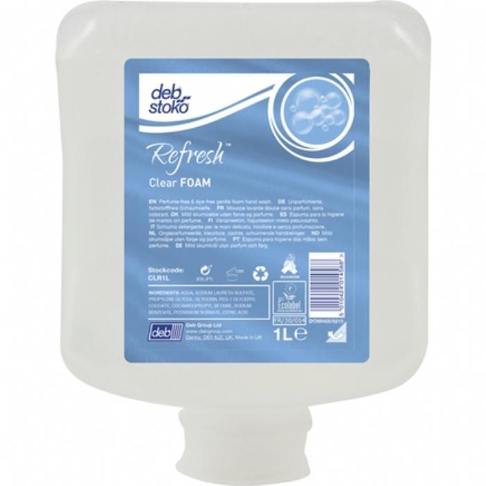 Deb Stoko Refresh Clear Foam Wash 1L
