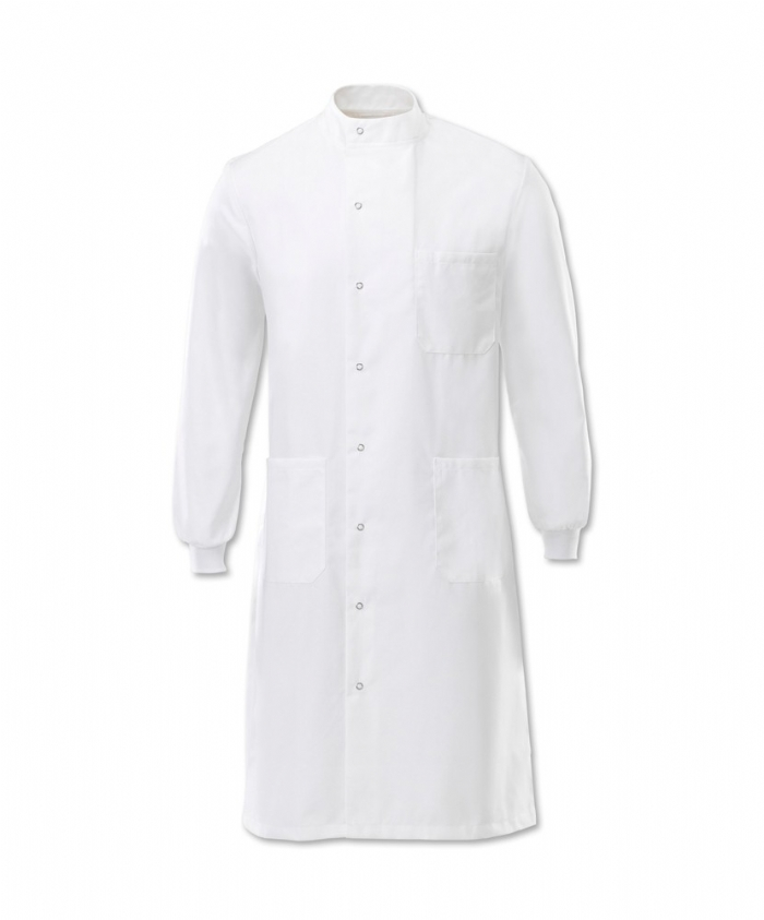 Unisex High Neck Lab Coat