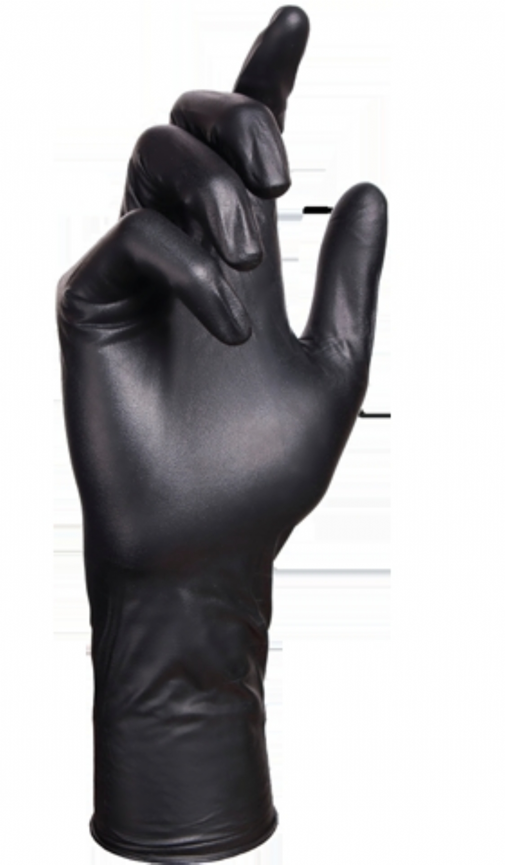 Select Black Latex Powder Free Extended Cuff Gloves
