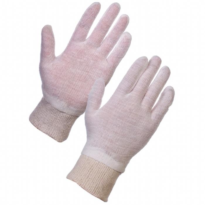 Stockinet Liner - Polycotton Knit Wrist Mens Gloves
