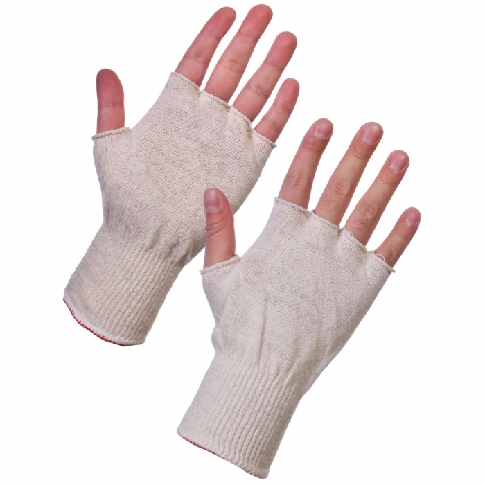 Stockinet Cotton Fingerless - Mens Gloves