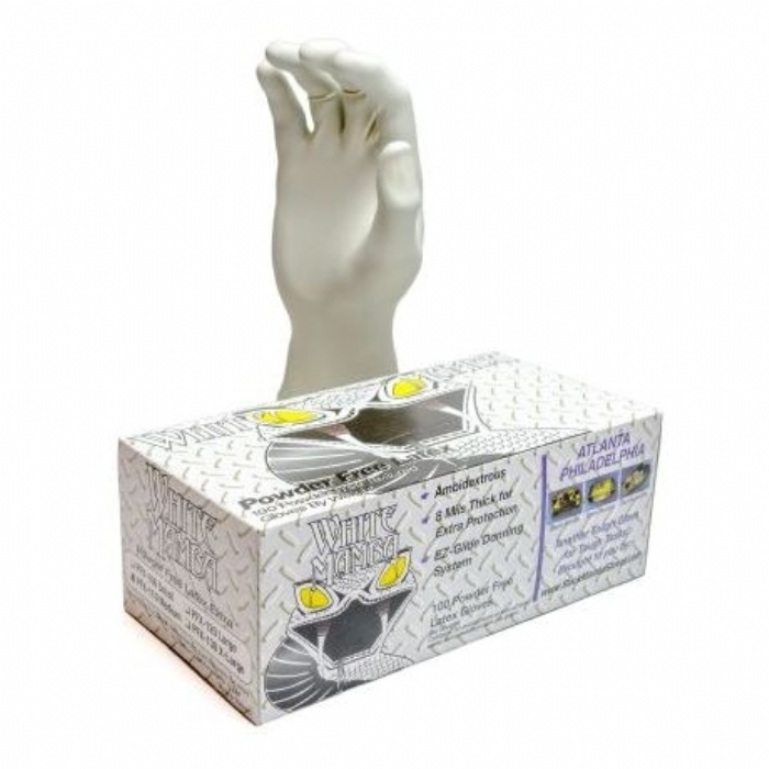 White Mamba Latex Gloves