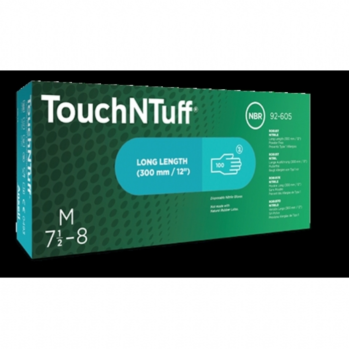 Ansell TouchNTuff 92-605 Nitrile Gloves