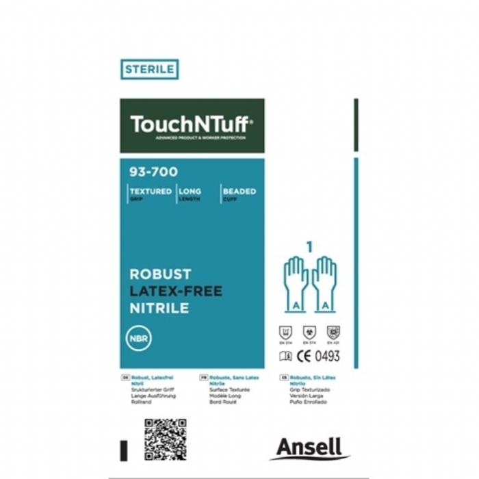 Ansell TouchNTuff® 93-700 Sterile Nitrile Gloves