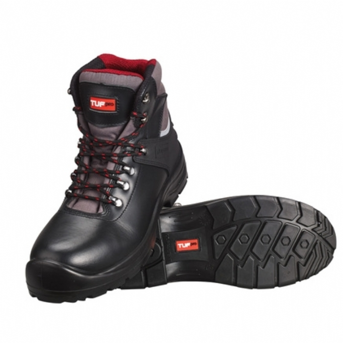 Tuf Pro Mid-Cut Grain Safety Boot with Midsole