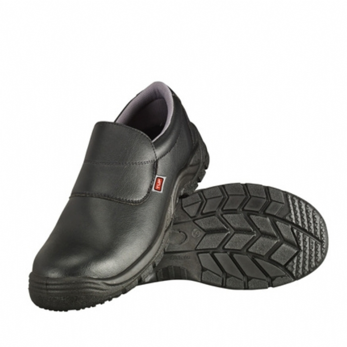Tuf Unisex Microfibre Slip-On Safety Steel Toe Shoe