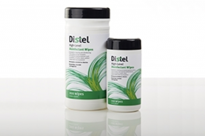 TM353 DISTEL High Level Laboratory Surface Disinfectant Wipes - Regular (185mmx135mm)