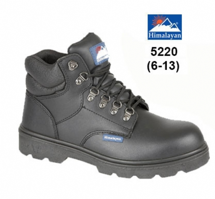 HIMALAYAN Black Fully Waterproof Safety Boot with Steel Midsole PU/PU Outsole
