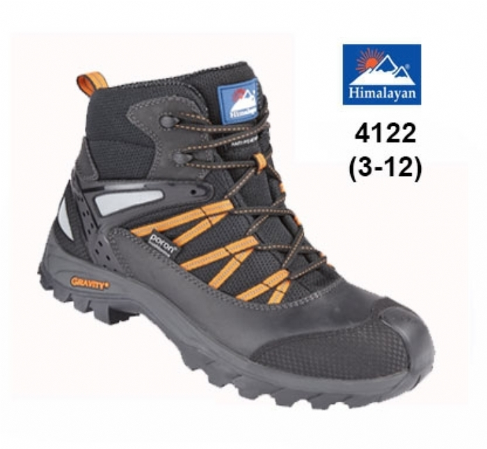 HIMALAYAN Black Gravity TRXII ''Poron'' Waterproof Boot with Metal Free Cap/Midsole & Gravity Sole