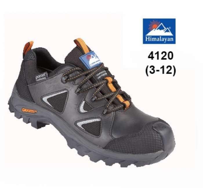 HIMALAYAN - Black Gravity TRXII ''Poron'' Waterproof Shoe with Metal Free Cap/Midsole & Gravity Sole