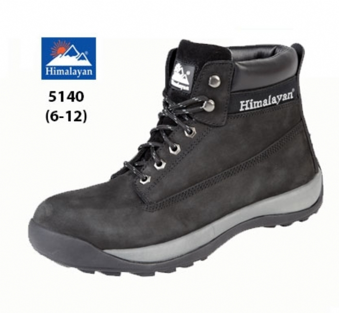HIMALAYAN  Black Nubuck Iconic Boot with Midsole