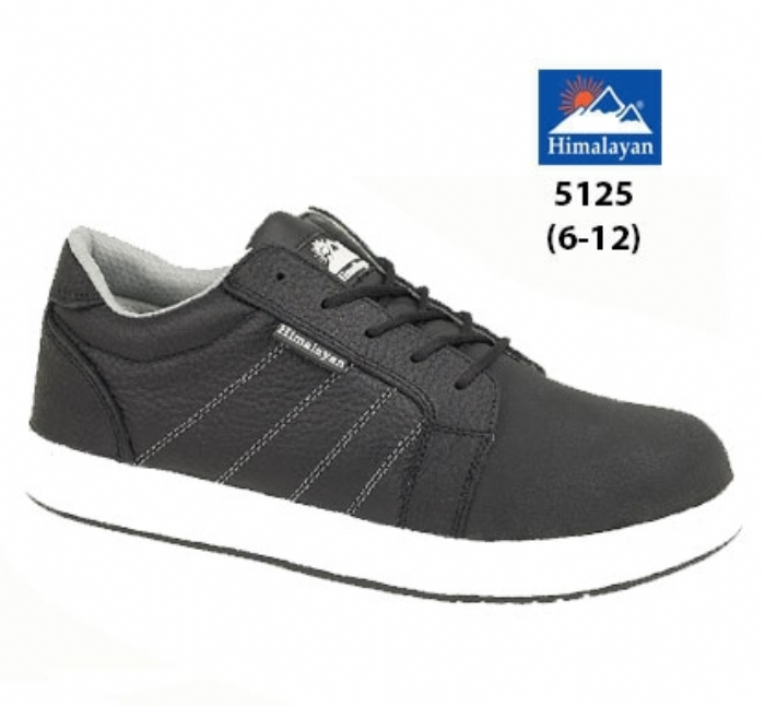 HIMALAYAN  Black Leather Iconic Skater Shoe with Midsole