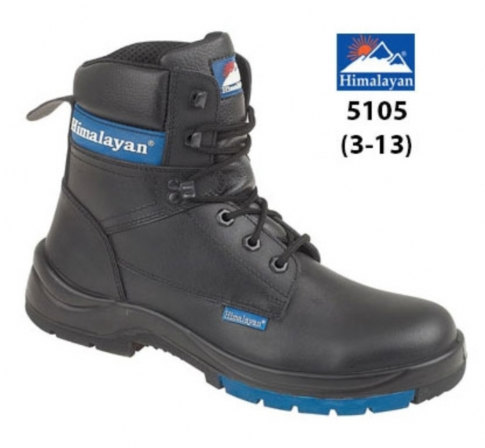 HIMALAYAN  Black Leather HyGrip 7'' Boot PU/Rubber Outsole