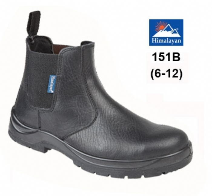 HIMALAYAN Black Leather Dealer Safety Boot with Dual Density Sole & Midsole