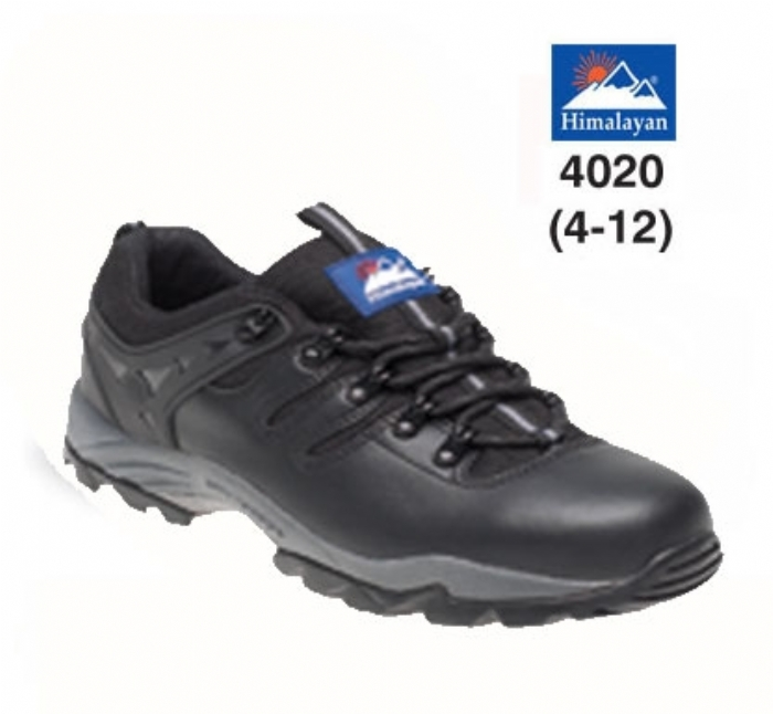 HIMALAYAN  Black Leather Safety Trainer with Gravity Sole and Midsole