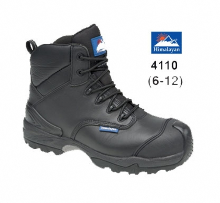 HIMALAYAN Black Leather Waterproof Boot Metal Free Cap/Midsole Gravity 2 Sole £65.95