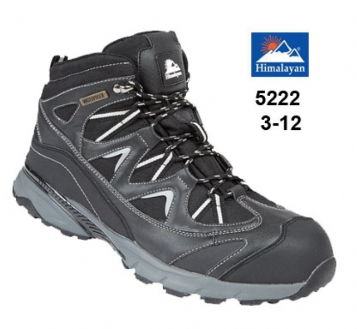 HIMALAYAN Black Waterproof Safety Boot