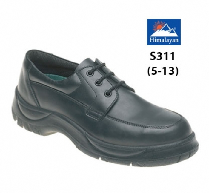 HIMALAYAN  Black Leather Wide Grip NON SAFETY Shoe with  Dual Density Sole