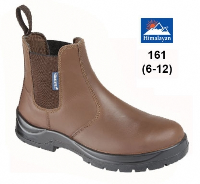 HIMALAYAN Brown Leather Dealer Safety Boot with Dual Density Sole & Midsole