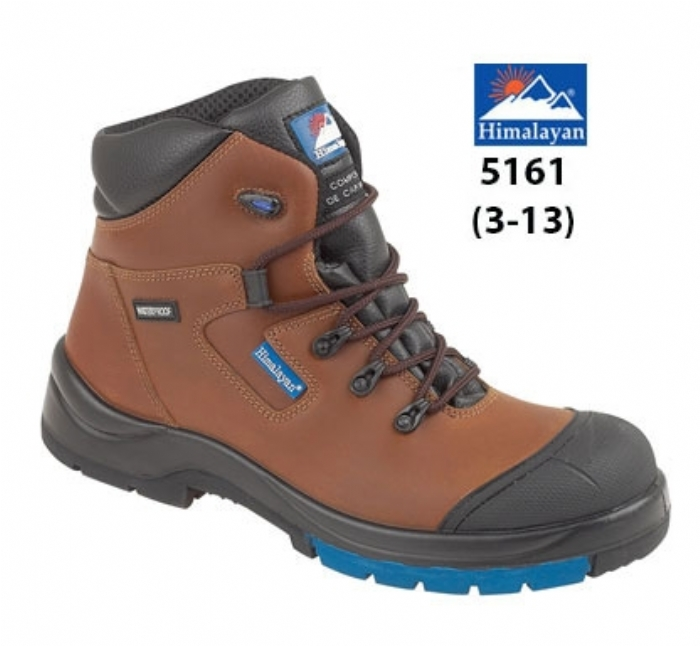 HIMALAYAN  Brown HyGrip Fully Waterproof Safety Boot Metal Free  Toe/Midsole PU Outsole Outsole