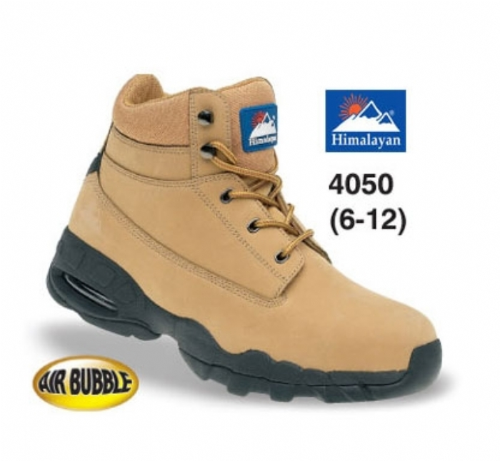 HIMALAYAN Wheat Nubuck Safety Boot with EVA/Rubber Sole and Midsole
