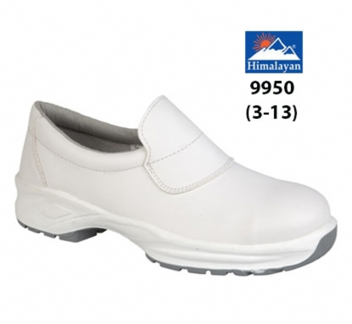 HIMALAYAN White Microfibre Safety Shoe