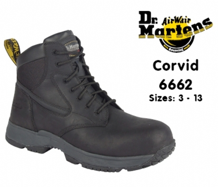 DR MARTENS  Corvid Black Safety Boot
