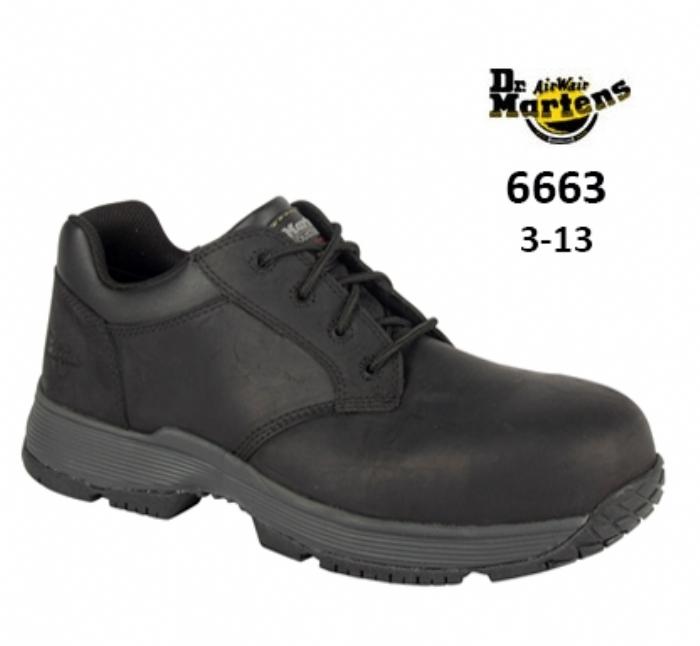 DR MARTENS  Linnet Black Safety Shoe