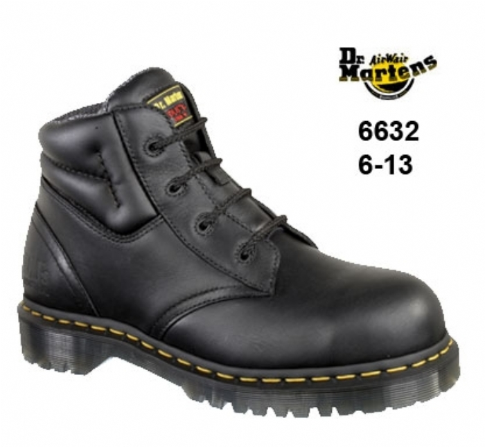 DR MARTENS  Icon Black Leather/ Suede Safety Boot with SAF Sole