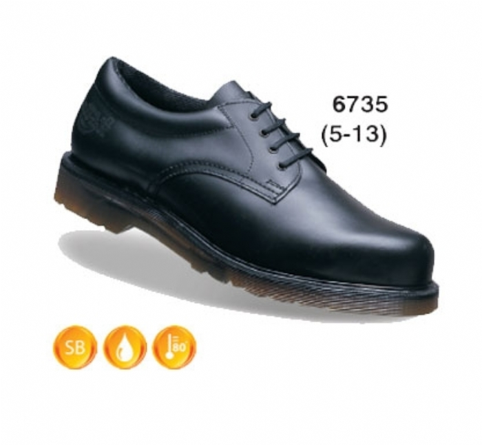 DR MARTENS Icon Black Leather Lace Padded Ankle Safety Shoe