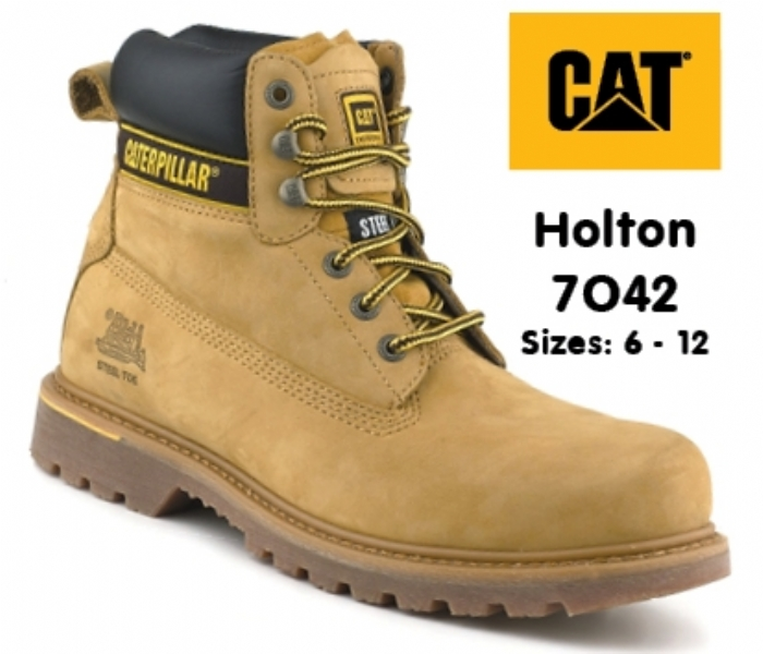 CATERPILLAR Holton Honey Leather Goodyear Welted Safety Boot