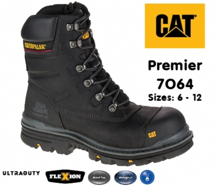 CATERPILLAR Premier Honey Safety Boot with side zip