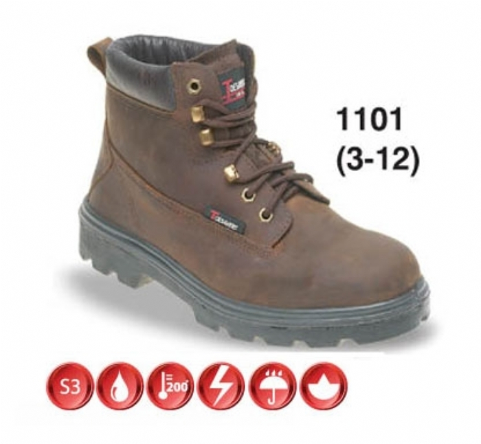 TOESAVERS Brown Nubuck Safety Boot