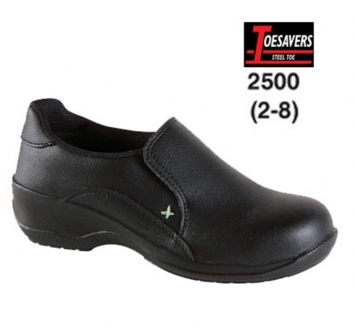 TOESAVERS Ladies Black Microfibre Casual Safety Shoe