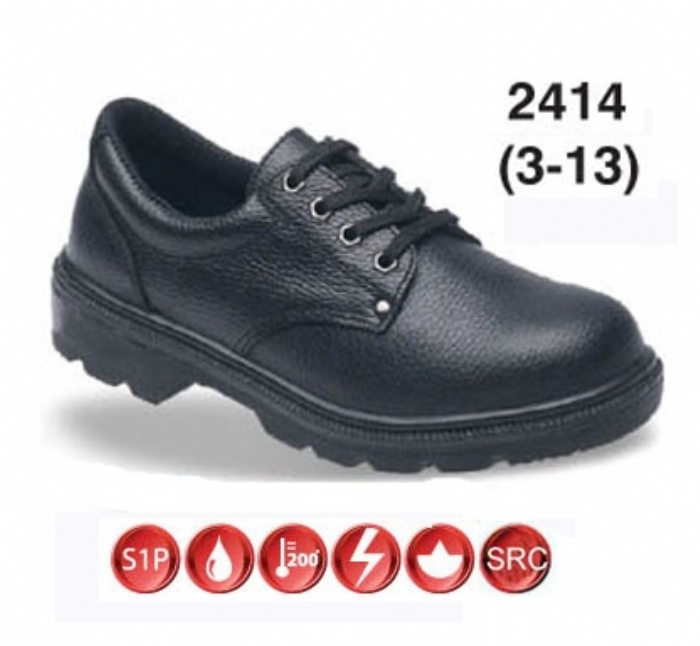 TOESAVERS Black Dual Density Shoe