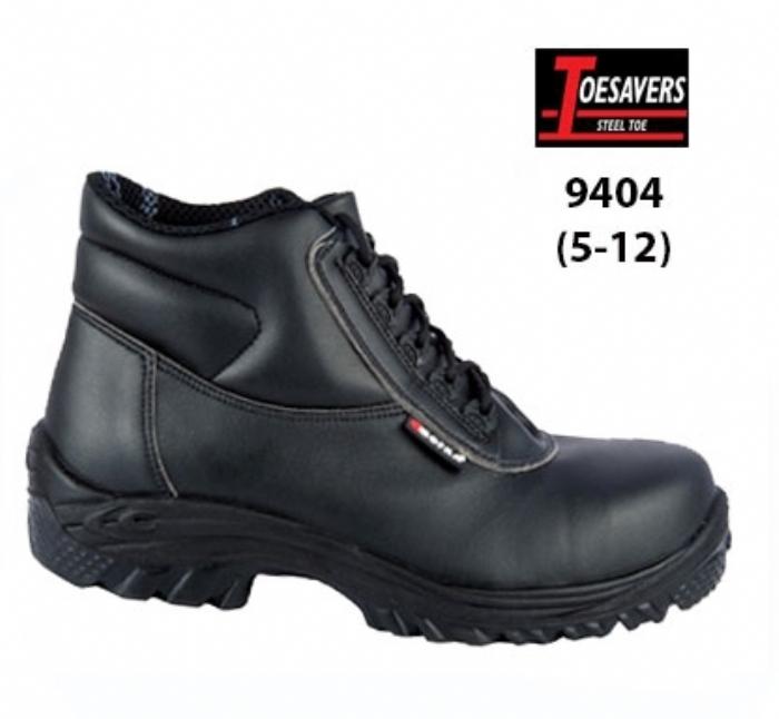 TOESAVERS Black Lorica Safety Boot -Vegan Friendly