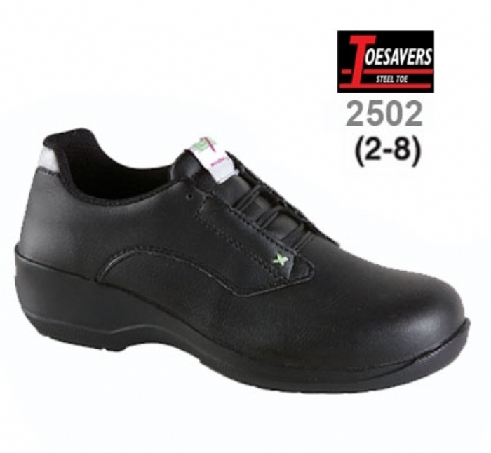 Ladies Black Microfibre Lace Safety Shoe
