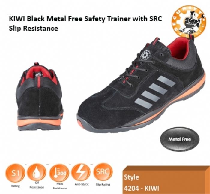 SECURITYLINE KIWI Metal Free Safety Trainer Black