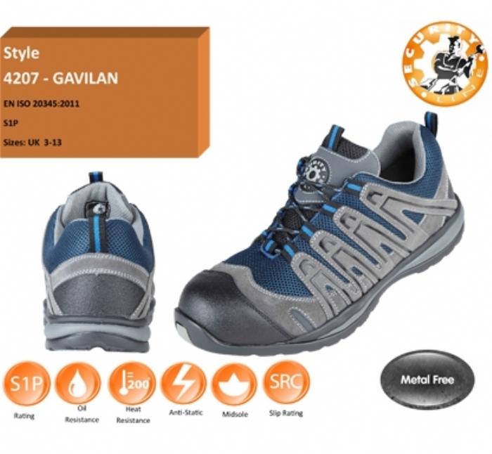 GALIVAN Blue/Grey METAL FREE Safety Trainer